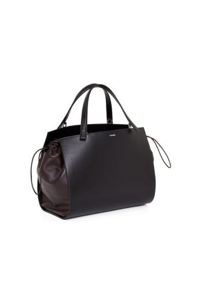 Tasche 850333 schwarz mit braun JIL SANDER
