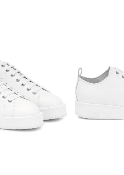 Sneaker Leder weiß - JIL SANDER