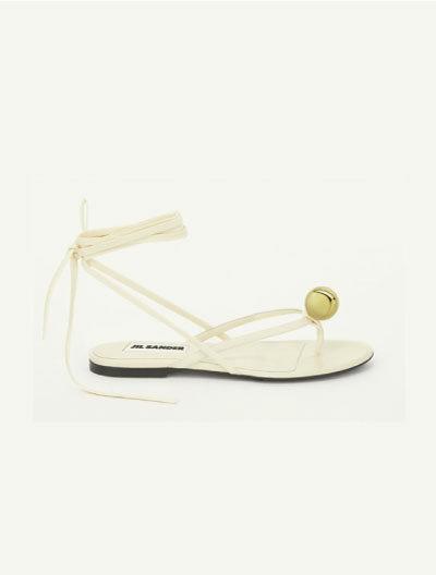 Sandale mit Kugelapplikation - JIL SANDER
